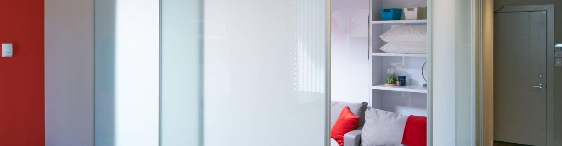 modern sliding glass room divider