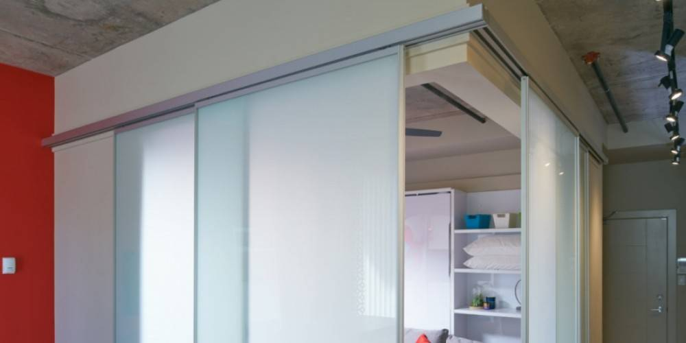 modern sliding glass room divider