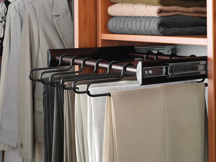 Closet Organizers - Custom Closet Accessory - Pull Out Pant Rack