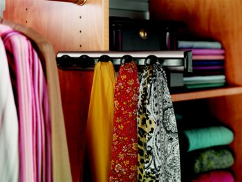 Closet Organizers - Custom Closet Accessory - Pull Out Scarf Rack