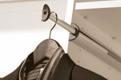 Closet Organizers - Custom Closet Accessory - Pull Out Valet Rod